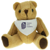 20cm Honey Bandana Bears in Brown