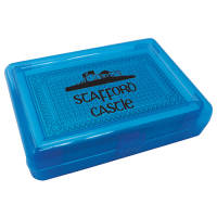 Branded Playing Cards in Plastic Case in blue from Total Merchandise