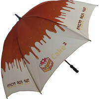 Branded Fibrestorm Golf Umbrella with company logos