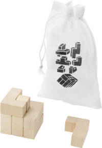 Promotional Wooden Puzzle With Pouch