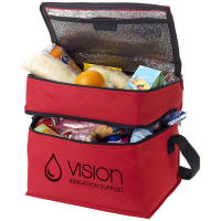 2 Section Cooler Bag in Red