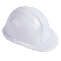 Personalised Hardhat Pencil Sharpeners in White from Total Merchandise