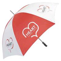 Promotional Golf Umbrellas in Red & White from Total Merchandise
