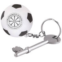 Stress Football Keyring in Off White/Black