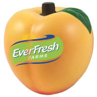 Promotional Stress Peach for with a logo printed to 1 side from Total Merchandise