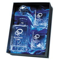 Promotional Gallery 3pc Whisky Set in Presentation Box for Luxury Business Gifts