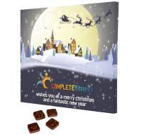 Custom Printed Desktop Advent Calendars with Festive Design from Total Merchandise