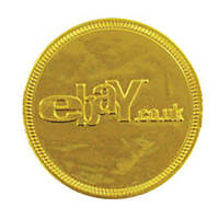 Promotional 38mm Embossed Chocolate Coins for Event Freebies