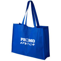 Custom Printed Big Shopper Bags in Blue Printed with your Logo by Total Merchandise