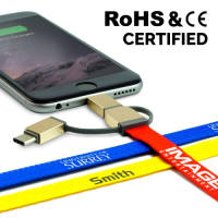 Branded 3 in 1 Charging Leads for Business Gifts