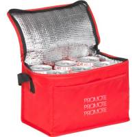 Branded Cooler Bags In Red Printed With Your Logo From Total Merchandise