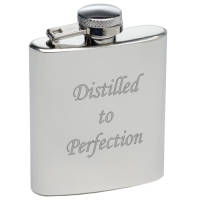 Promotional 3oz Stainless Steel Mini Hip Flasks  with Engraved with Logo from Total Merchandise