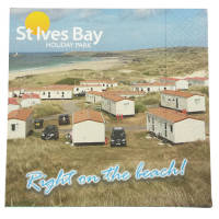 Promotional 3ply Full Colour Napkins with a company image printed to 1 side from Total Merchandise
