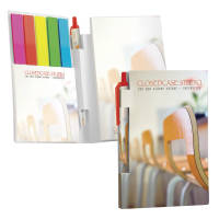 Custom Printed BiC Pen, Sticky Note, Page Index Flag and Mini Notepad Sets from Total Merchandise