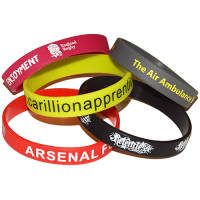 Printed Silicone Wristbands with Your Logo from Total Merchandise