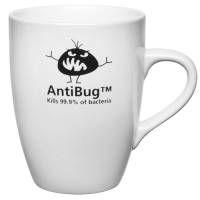 Branded Marrow Mugs in White with antimicrobial surface from Total Merchandise