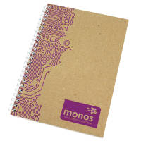 Promotional A5 Recycled Card Notepads with white wire from Total Merchandise