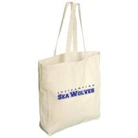Promotional 5oz Cotton Market Bags in Natural Cotton Printed with a Logo by Total Merchandise