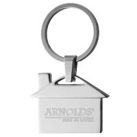 Corporate Branded House Shape Keyrings with your Company Logo Engraved