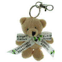 Branded Toby Bear Keyring Printed with Your Logo to the Bow from Total Merchandise