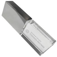 Promotional USB Crystal Look Memory Sticks with corporate logos