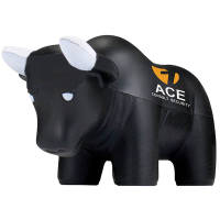 Promotional branded Stress Bull with a logo printed to the side