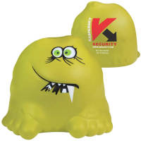 Promotional branded Stress Bug with a company logo printed to the back