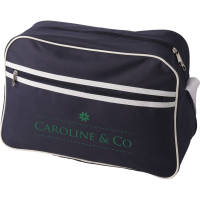 Shoulder Bag in Navy/White