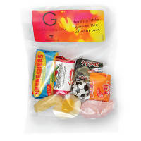 Promotional branded sweet bags for event giveaways