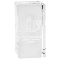Promotional 3D Engraved Crystal Rectangles for Company Merchandise