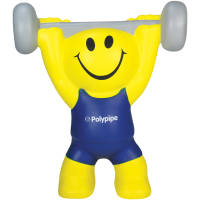 Promotional Stress Weight Lifters are great as gym merchandise