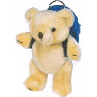 Personalised 5 Inch Honey Bear With Rucksack that can be branded from Total Merchandise