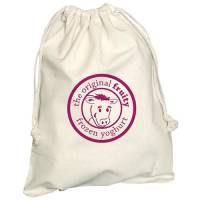 Promotional Medium Cotton Pouches in Natural Cotton Printed with a Logo by Total Merchandise