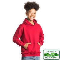 Promotional AWD Children's Hoodies in Fire Red from Total Merchandise