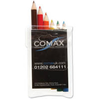 6 Pack Promotional Colouring Pencils Printed With Your Logo From Total Merchandise