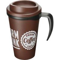 Promotional Americano Grande Thermal Mugs with a company logo on the side from Total Merchandise
