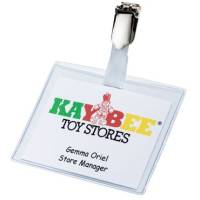 Hanging Clip Badge in Clear