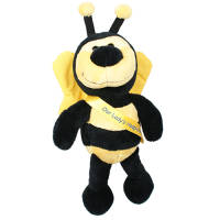 Bertie Bee Teddy in Black/Yellow