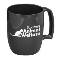 Eco-friendly Branded Kafo Recycled Mugs in Graphite from Total Merchandise