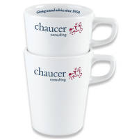 Stackable Mugs in White