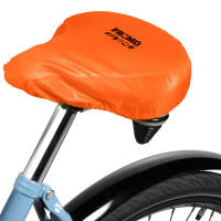 Promotional Polyester Bike Seat Covers with a printed logo on the top from Total Merchandise