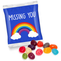 Promotional Bags of Gourmet Jelly Beans Printed with a Logo from Total Merchandise