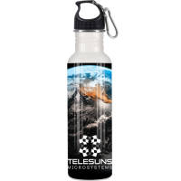 750ml Full Colour Metal Sport Bottles in White