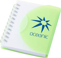 Custom printed Small Spiral Notebooks available in green from Total Merchandise