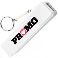 UK Printed Candy Power Banks in White with a Logo from Total Merchandise