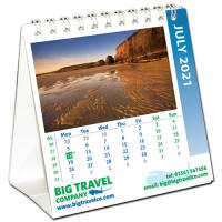 Custom personalised Mini Easel Calendars for any desk