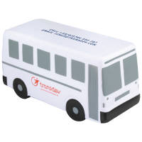 Promotional printed Stress Bus printed to the roof and sides from Total Merchandise
