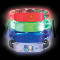 Branded LED Light Up Wristbands Engraved with Your Logo from Total Merchandise
