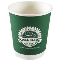 Promotional 8oz Double Wall Paper Cup printed with logo from Total Merchandise