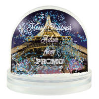 Promotional Glitter Snow Domes printed with your Logo & Individual Names by Total Merchandise